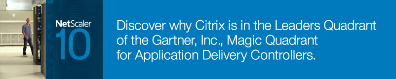Discover why Citrix is in the Leaders Quadrant of the Gartner, Inc., Magic Quadrant for Application Delivery Controllers.