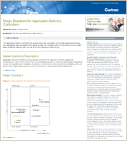 Magic Quadrant for Application Delivery Controllers