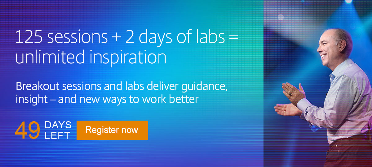 125 sessions + 2 days of labs = unlimited inspiration