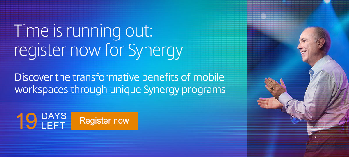 Time is running out: register now for Synergy