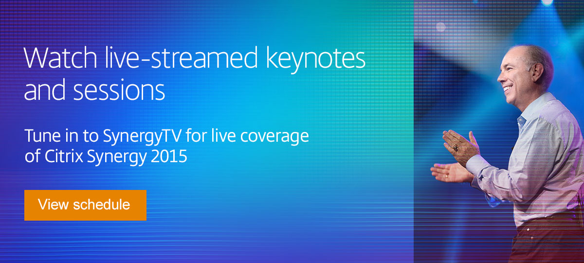 Watch live-streamed keynotes and sessions