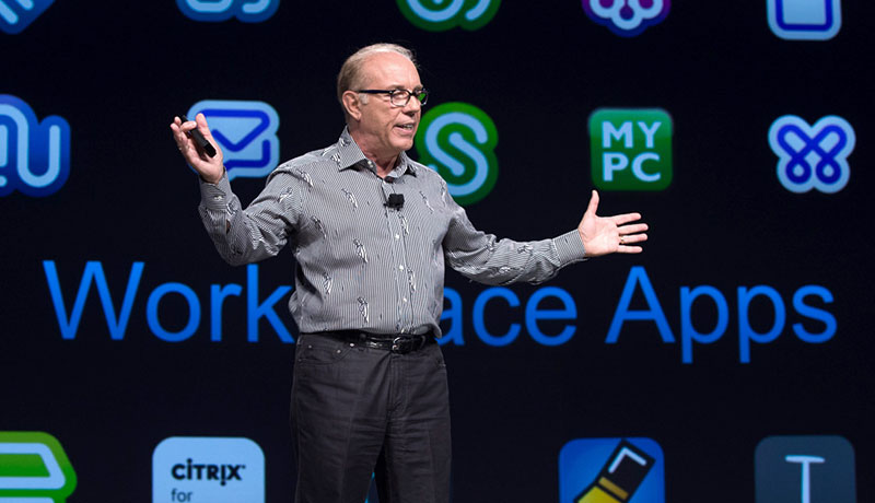 Citrix CEO Mark Templeton on Synergy keynote stage